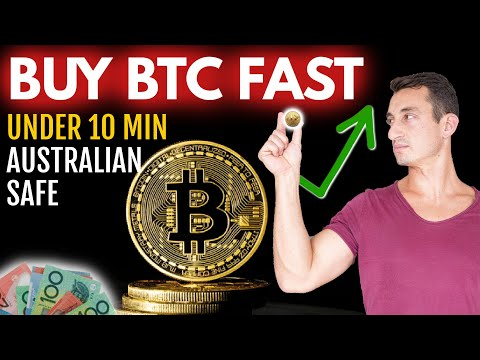 QUICKEST WAY To Buy Bitcoin In Australia, Under 10 Minutes | Cryptocurrency Beginners (2021)