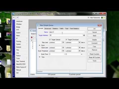 Simple Way Limiting Bandwidth on Mikrotik Winbox