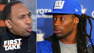 Stephen A. reacts to the Giants cutting Janoris Jenkins | First Take Video
