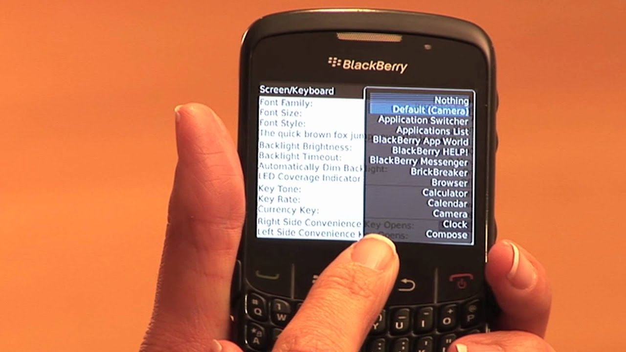 How to Set Fonts & Side Convenience Keys on Your Blackberry