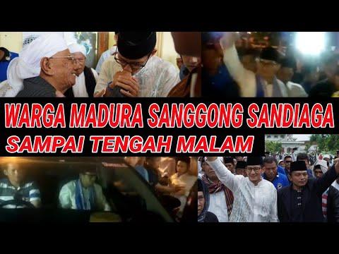 TENGAH MALAM, WARGA TUNGGU SANDIAGA DI SAMPANG;ANTUSIASME WARGA MADURA SAMBUT SANDIAGA;PILPRES 2019 Mp3