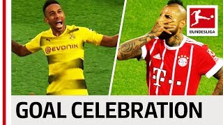 Best Goal Celebrations 2017/18 So Far - Party Up With Lewandowski, Aubameyang and More