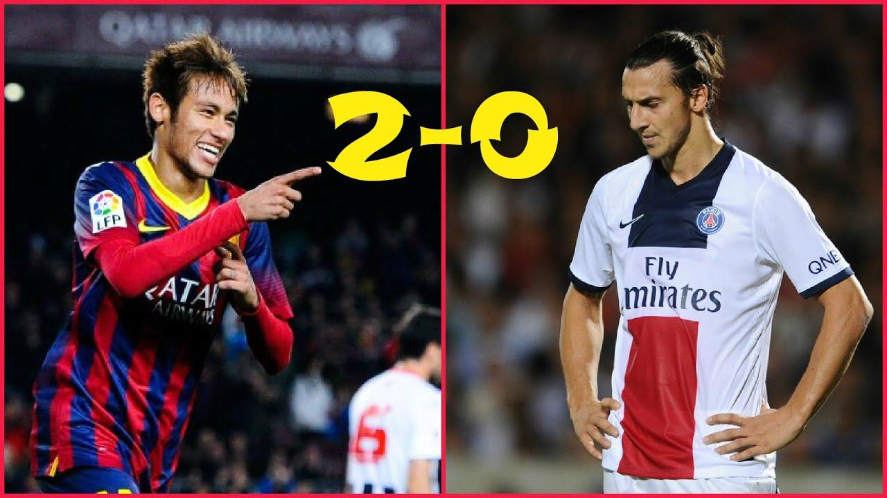 Барселона псж голы 2 0