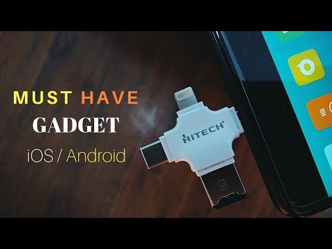 4 In 1 OTG Card Reader For IOS, Android, Type-c, PC And Mac 2018.