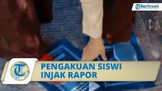 Viral Video Siswi SMP Di Lombok Timur Injak Rapor, Pelaku Hampir Dikeluarkan Dari Sekolahnya
