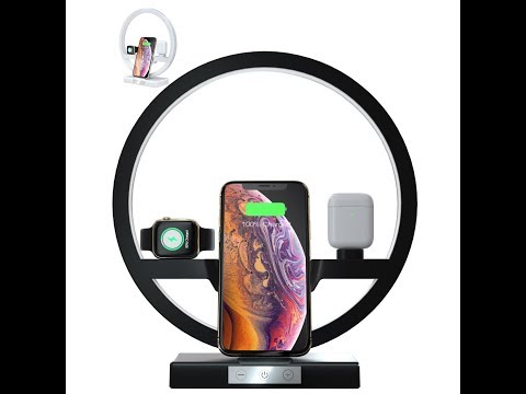 DE 3In1 Qi Wireless Charger Pad Ladestation für Apple Watch+iPhone 11/XS/X/8/7+Airpods