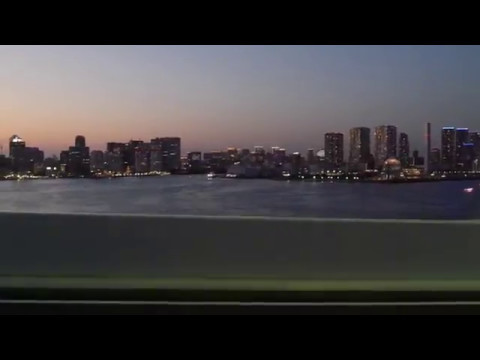 Tokyo night drive 4K side 東京 ドライブ 2017