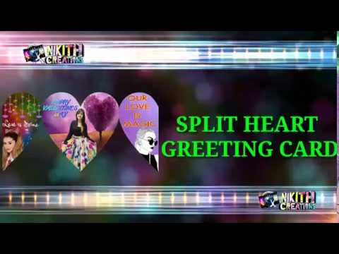 spliting heart Greeting card | photo greeting card |Greeting Cards for all occasions