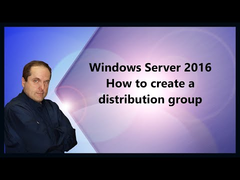 Windows Server 2016 How to create a distribution group