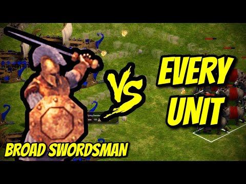 BROAD SWORDSMAN vs EVERY UNIT | Age of Empires: Definitive Edition |