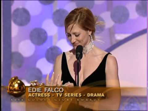 Edie Falco Wins Best Actress TV Series Drama  Golden Globes 2003