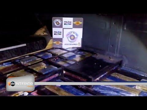 Polícia Rodoviária apreende 450 quilos de maconha em van