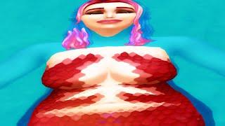 cлишком толстая русалка пытается выжить в Симс 4