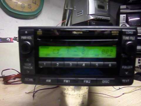 auto radio CD, mp3 carrocel original da Toyota