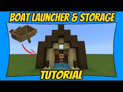 Boat Launcher Tutorial [Minecraft Bedrock Edition] [MCPE]