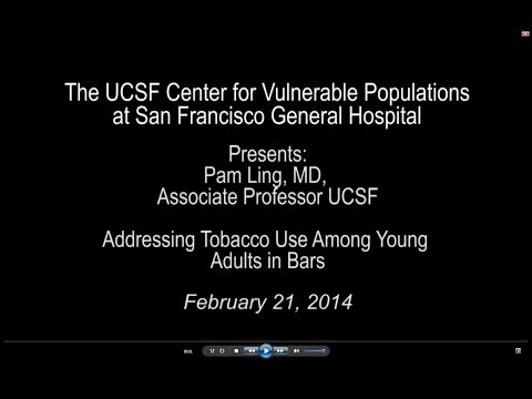 CVP Seminar Series Presents: Pam Ling, MD - Addressing Tobacco Use Among Young Adults in Bars