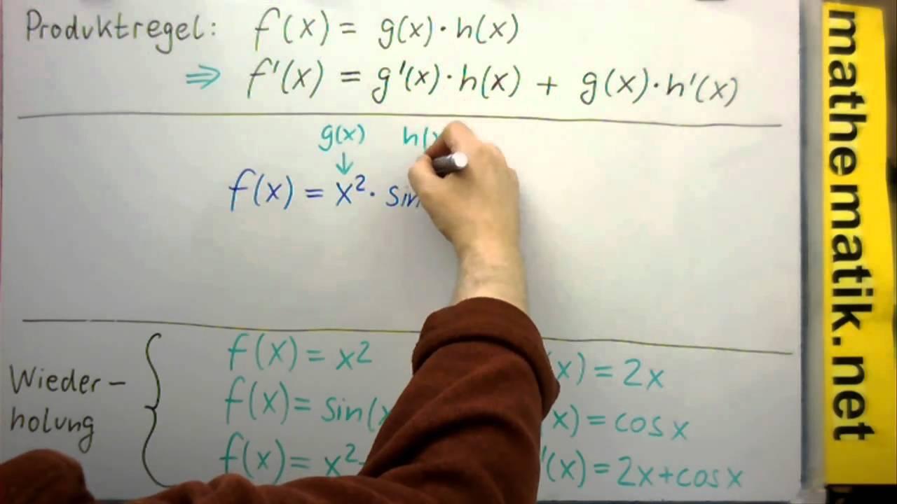 Differentialrechnung - Produktregel (Einführung am Beispiel 1) - YouTube