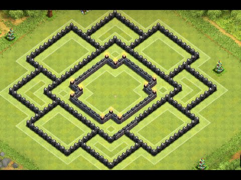 Clash of Clans - Epic TH9 Farming Base Layout Speed Build