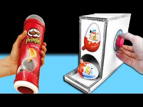 Kinder Joy Maschine mit Pringles selber bauen - DiY