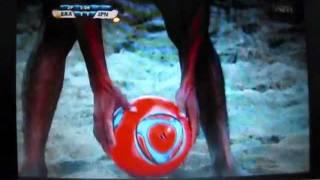 ビーチサッカー日本代表№11 小牧正幸 日本VSブラジル PKゴール