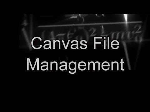 Canvas File Management | Canvas Tutorials