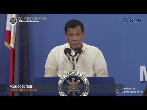 Duterte meets Filipino Community in Bahrain