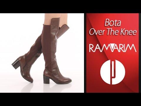 9df4fd2be Bota Over The Knee Feminina Ramarim - Marrom - 6010371020 - YouTube