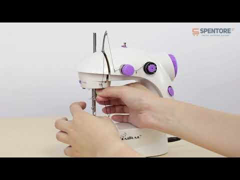 Portable 4 in 1 Mini Sewing Machine with Adapter and Foot Pedal