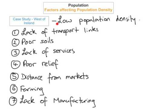 Population - Factors affecting Population density & two case studies (Part 4)