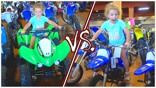 🚵 DIRT BIKE SHOPPING WITH THE FAMILY | KIDS QUAD VS DIRT BIKE 🚴