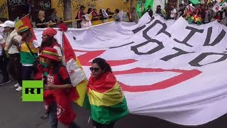 Protestas en Bolivia contra la candidatura de Evo Morales