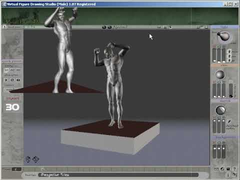 3d Virtual Software For Life Figure Drawing Male Model Youtube