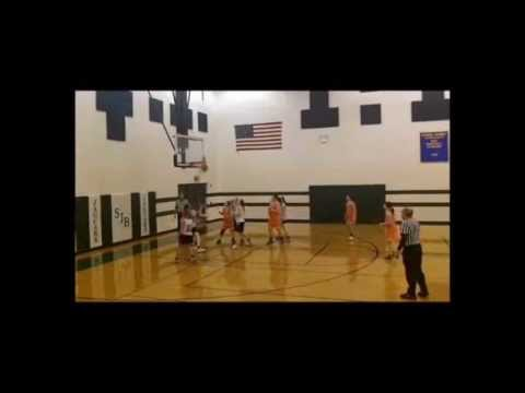 """Shelby Sparks - 8th Grade 6'1"""" Plus Center/ Post Lomira Middle School Girls Basketball Highlights"""