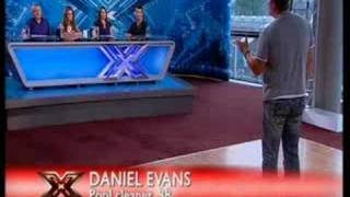 X Factor Danny Daniel Evans makes Cheryl Cole cry.