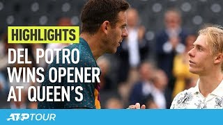 Del Potro, Wawrinka Advance At Queen's | HIGHLIGHTS | ATP
