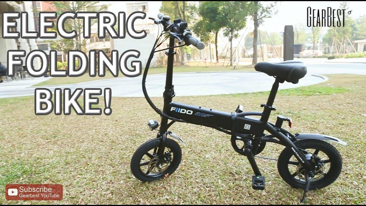Folding Electric Bike FIIDO D1 GearBest - YouTube
