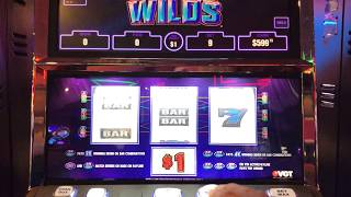 $9 BET VGT LUCKY DUCKY ELECTRIC WILDS SLOT WITH RED SCREENS AT CHOCTAW !!!