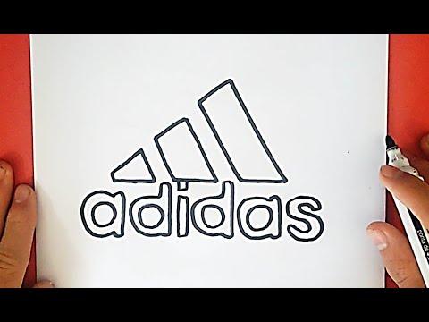 Wie zeichnet man das Adidas Logo (Symbol, Emblem) - YouTube