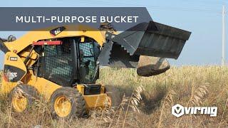 Virnig Manufacturing Multi-Purpose Bucket Skid Steer Attachment (Standard & Heavy Duty)