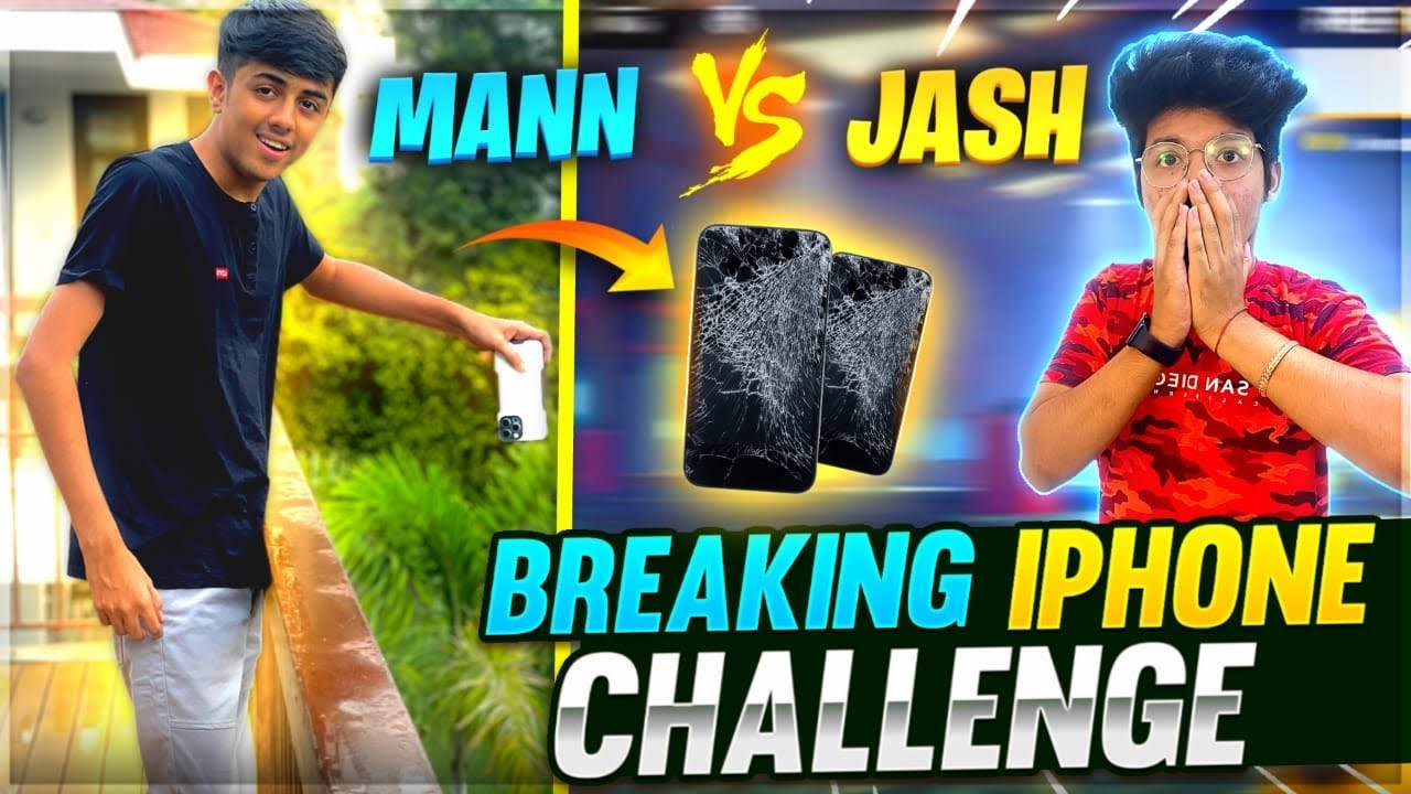 Jash Challenge Mann For 1 Vs 1 Clash Squad😱Iphone Drop Challenge Gone Wrong 100%- Garena Free Fire