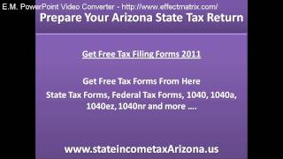 Prepare Your Arizona State Tax Return and Get Fast Tax Refund