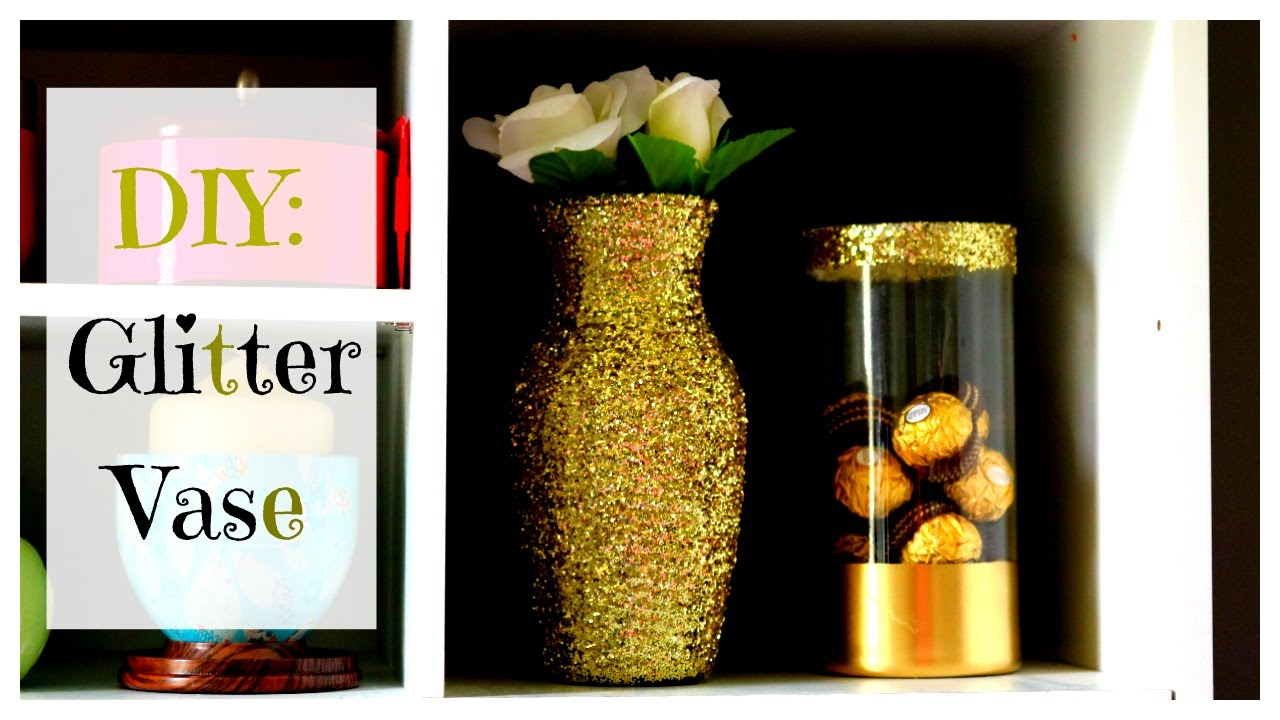 Diy gold glitter vase maxtyree youtube reviewsmspy