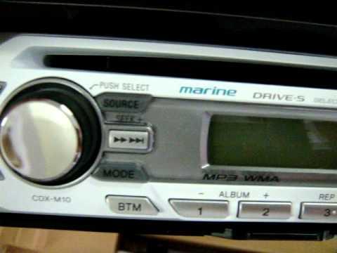 cd player mp3 marinizado sony cdx m10 youtube rh youtube com