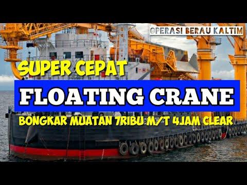 Floating crane operasi berau kaltim indonesia