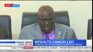 KCSE results of 1205 candidates cancelled over exam irregularities