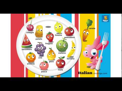 Online Italian games - Click and tell online game - Italian language learning games for kids