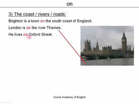 Prepositions of place   in, on, at   English grammar
