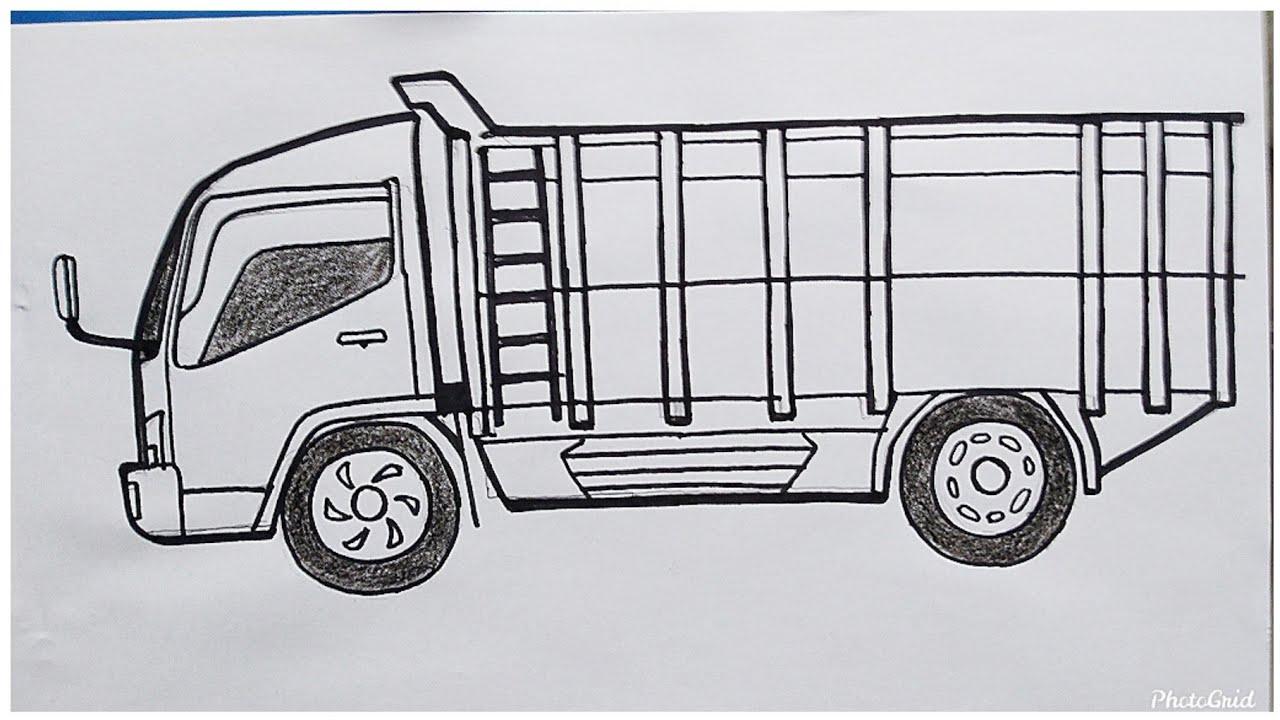 Cara Mudah Menggambar Mobil Truk Canter Dari Samping Tutorial Indonesia Youtube