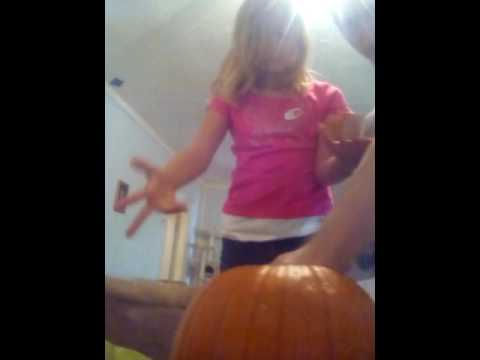 Cleaning out a pumpkin