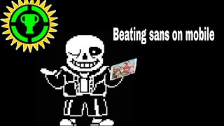 Beating sans on mobile